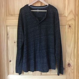 Old Navy soft washed space dye Henley Sz XL
